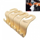 ZIQIAO Car SUV Back Seat Headrest Hanger Storage Hooks( 4PCS) - Beige