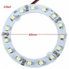QooK 60mm Cold White 15-LED SMD Car Angel Eyes HeadLights (2 PCS)