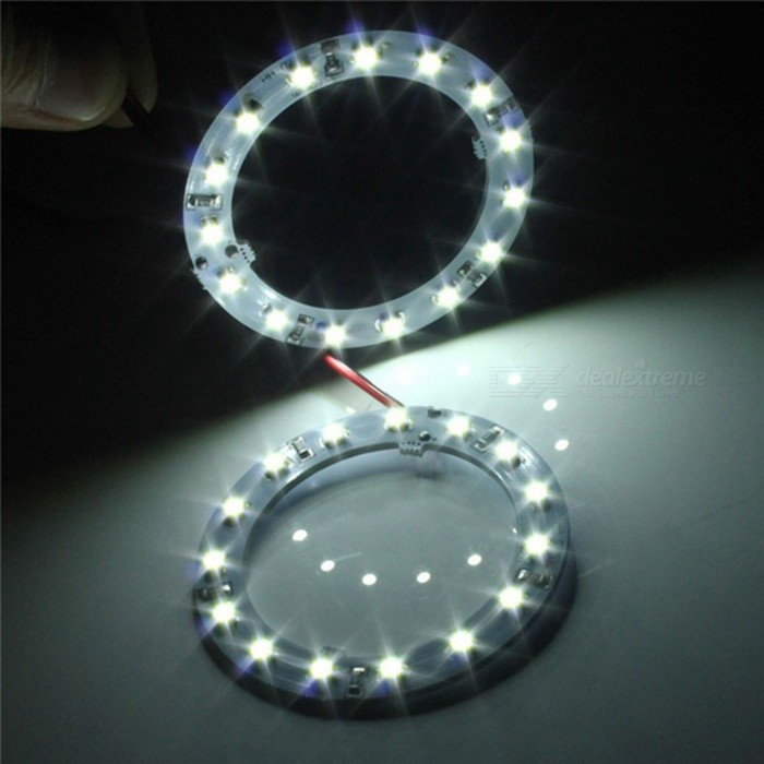 QooK 60mm Cold White 15-LED SMD Car Angel Eyes HeadLights (2 PCS ...