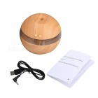 YK30S Ultrasonic Wooden USB Aroma Humidifier Diffuser - Light Brown