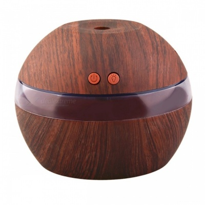 YK30S Ultrasonic Wooden USB Aroma Humidifier Diffuser - Dark Brown