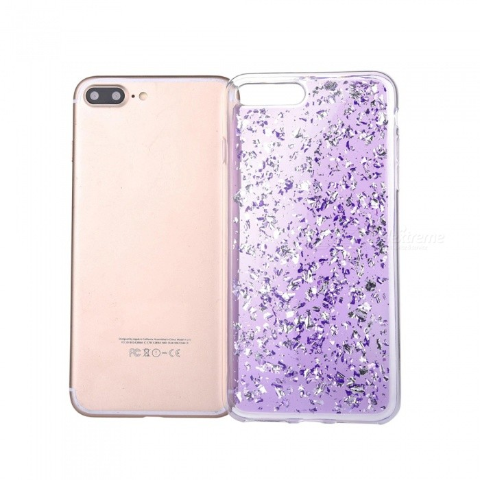 Gold Foil TPU Cell Phone Back Case for IPHONE 7 PLUS - PurpleTPU Cases<br>Form  ColorPurpleQuantity1 DX.PCM.Model.AttributeModel.UnitMaterialTPUCompatible ModelsiPhone 7 PLUSDesignMixed ColorStyleBack CasesPacking List1 x Case<br>