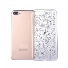 Gold Foil Smooth TPU Cell Phone Back Case for IPHONE 7 PLUS - Silver