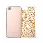 Goldfolie glattes TPU Handy zurück Fall für IPHONE 7 PLUS - Golden