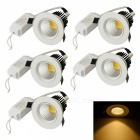 JIAWEN 10W COB LED Warm White Dimmable Ceiling Lights (5Pcs)