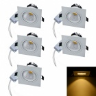 JIAWEN 6W COB LED Dimmable Warm White Ceiling Lights (5Pcs)