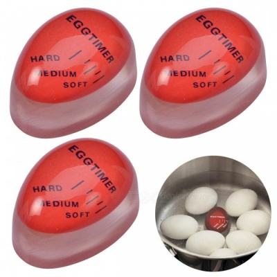 ZJ0123-1 Magic Color Changing Egg Timer Cook Thermometers - Red (3PCS)