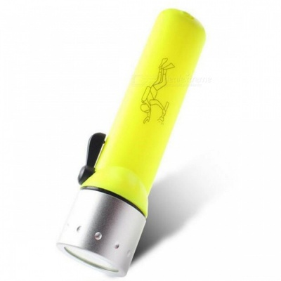 Jiaoyan Long Range Portable Waterproof LED Diving Flashlight - Yellow
