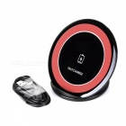 Qi Standard Fast Charging Charger + USB Charging Cable - Red + Black