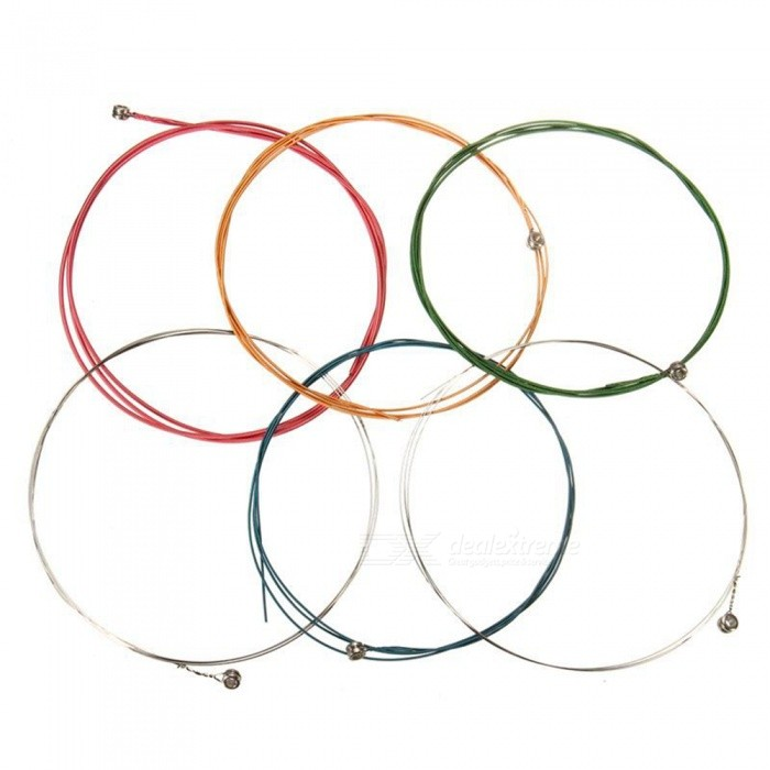 Set Rainbow Colorful Color String for Acoustic Guitar - MulticolorInstruments Parts<br>Form Color colourModelJHBU26MaterialMetalQuantity1 setShade Of ColorMulti-colorCompatible ModelsGuitarOther FeaturesNoPacking List6 x Guitar strings<br>