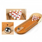 Children's Educational Toys Wooden Mini Bowling