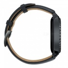 Miimall Leather Watch Band for Gear S2 Classic Smart Watch - Black