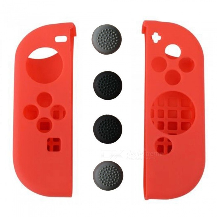 Kitbon Silicone Case + Thumb Grip Cags for Nintendo Switch Joy-Con