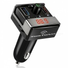 Wireless FM Transmitter Bluetooth Car Charger MP3 Player - Black