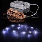 AA Battery Power 20 LEDs Cold White Christmas String Fairy Light