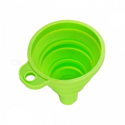 E-SMART Folding Silicone Funnels Kitchen Tool - Light Green (5 PCS)