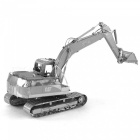 DIY Jigsaw Puzzle 3D Metal Excavator Assembled Model Toys - Silver