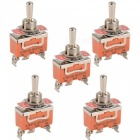 Toggle Switch 15A 250V AC ON-OFF-ON 3-Pin SPDT Switches (5pcs)
