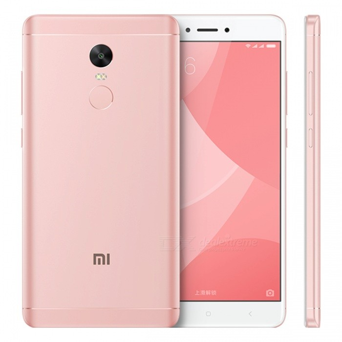 Xiaomi Redmi Note 4X 5.5 Dual SIM Phone w/ 3GB RAM + 32GB ROM - PinkAndroid Phones<br>Form  ColorPinkRAM3GBROM32GBBrandXiaomiModelNote 4XQuantity1 DX.PCM.Model.AttributeModel.UnitMaterialMetal + glassShade Of ColorPinkTypeBrand NewPower AdapterUS PlugHousing Case MaterialMetalTime of Release2017-03-03Network Type2G,3G,4GBand DetailsGSM: 850/900/1800/1900MHz; UMTS: 2100/1900/850/900MHz; CDMA: 800MHz; TD-SCDMA: 2000/1900MHz; LTE: 2100/1800/850/2600MHz; TD-LTE: 1900/2300/2500MHzData TransferGPRS,LTE,HSUPAWLAN Wi-Fi 802.11 a,b,g,nSIM Card TypeNano SIMSIM Card Quantity2Network StandbyDual Network StandbyGPSYes,A-GPS,BDS,GLONASSBluetooth VersionBluetooth V4.0Operating SystemAndroid 6.0CPU ProcessorQualcomm Snapdragon 625 MSM8953, 2016, 64 bit, Octa-core 2.0GHz, 14 nmCPU Core QuantityOcta-CoreGPUQualcomm Adreno 506 GPULanguageEnglish, Simplified Chinese, Traditional Chinese, Dutch, Indonesian, Malay, Persian, Danish, German, Estonian, Spanish, French, Zulu, Italian, Swahili, Latvian, Lithuanian, Hungarian, Norwegian, Polish, Portuguese, Romansh, Slovak, Vietnamese, Turkish, Russian, Arabic, Korean, JapaneseAvailable Memory28.8GBMemory CardMicro SDMax. Expansion Supported128GBSize Range5.5 inches &amp; OverTouch Screen TypeCapacitive ScreenScreen Resolution1920*1080Multitouch10Screen Size ( inches)5.5Screen Edge2.5D Curved EdgeCamera Pixel13.0MPFront Camera Pixels5 DX.PCM.Model.AttributeModel.UnitVideo Recording Resolution1080p@30fps, 720p@120fpsFlashYesAuto FocusYesTouch FocusYesOther Camera FunctionsPrimary camera: 13 MP, f/2.0, phase detection autofocus, dual-LED (dual tone) flash; Features: 1.12 µm pixel size, geo-tagging, touch focus, face detection, panorama, HDR; Secondary camera: 5 MP, f/2.0, 1080pTalk Time51 DX.PCM.Model.AttributeModel.UnitStandby Time264 DX.PCM.Model.AttributeModel.UnitBattery Capacity4100 DX.PCM.Model.AttributeModel.UnitBattery ModeNon-removablefeaturesWi-Fi,GPS,FM,Bluetooth,OTGSensorProximity,Compass,Accelerometer,Fingerprint authentication sensor,Others,Gyro, hall sensor, light sensorWaterproof LevelIPX0 (Not Protected)Dust-proof LevelnoI/O InterfaceMicro USB v2.0,OTGFormat SupportedPCM/AAC/AAC+/eAAC+/MP3/AMR-NB/WB/FLAC/APE/ DSD/WAV; H.265/H.264/MPEG4; JPEG/GIFJAVANoRadio TunerFMReference Websites== Will this mobile phone work with a certain mobile carrier of yours? ==Packing List1 x Smart phone1 x Power adapter1 x Micro USB charging cable1 x SIM tool1 x User manual<br>
