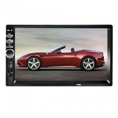 Kelima 7-inch HD Car FM Machine Bluetooth MP5 Player - Black + Silver
