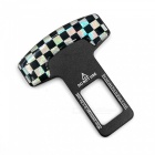 ZIQIAO Universal Car Safety Seat Belt Buckle - White + Black