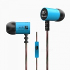 KZ ED3M HiFi Stereo Metal In-ear Wired Earphone - Blue (With Mic)