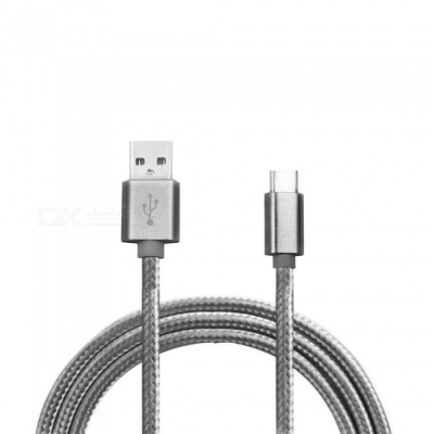 Universal Type-C to USB Charging Data Cable for Huawei - Golden (1m)