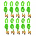 Micro USB V8 Candy Color Fast Charging Cables - Grass Green + Golden