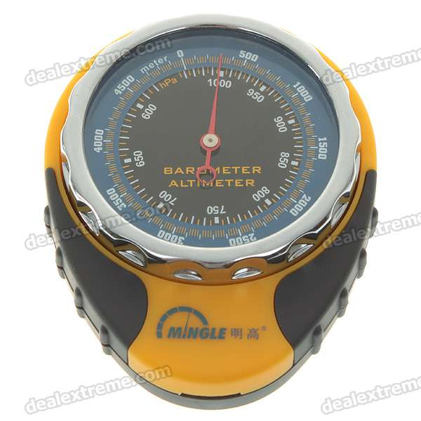 Handy Altimeter-Barometer with Compass + Thermometer + Carabiner Clip