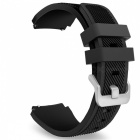 Replacement Soft Silicone Watchbands for Samsung Gear S3 - Black