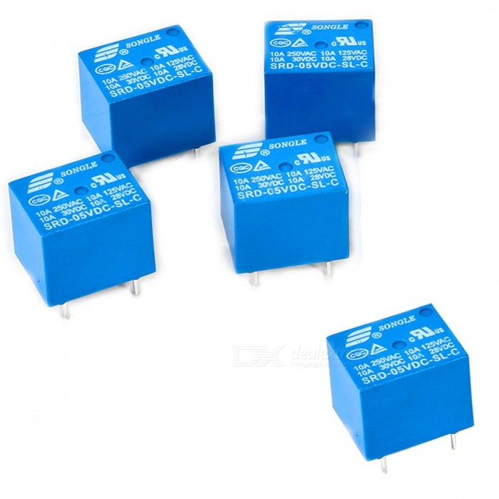 Songle SRD-05VDC-SL-C 5 VDC Haushaltsgerät 5 Pin Leiterplattenrelais (5PCS)