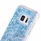 Gold Foil Flash Silicone Phone Protective Shell for Samsung S7 - Blue