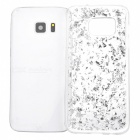 Gold Foil Silicone Protective Back Case for Samsung S7 - Silver