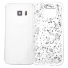 Gold Foil Silicone Phone Back Case for Samsung S7 Edge - Silver
