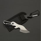 Wild Camping Mini Key Chain Knife w/ a Mountaineering Buckle - White