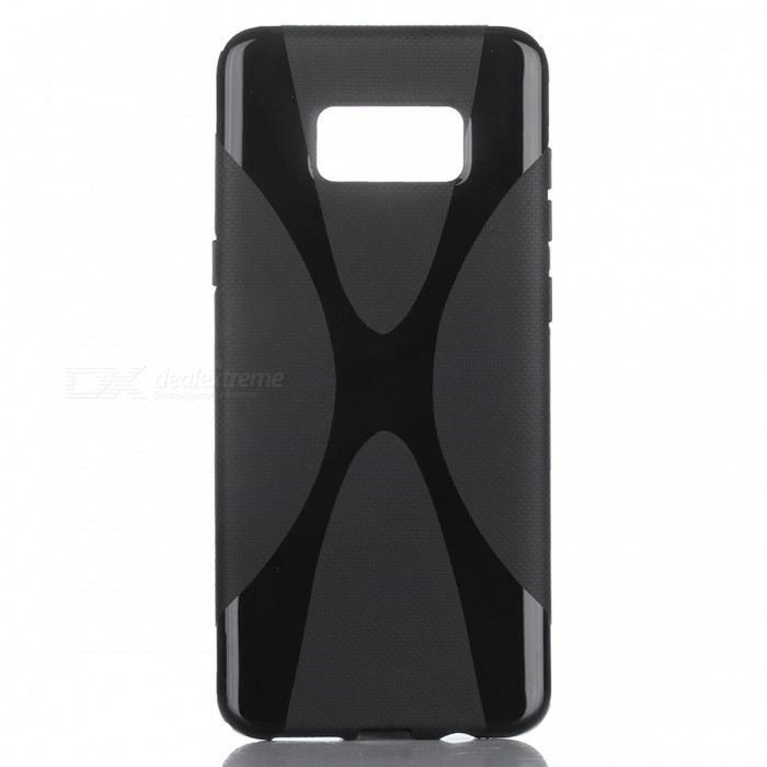 """X"" Style Protective TPU Back Case for Samsung Galaxy S8 - Black"