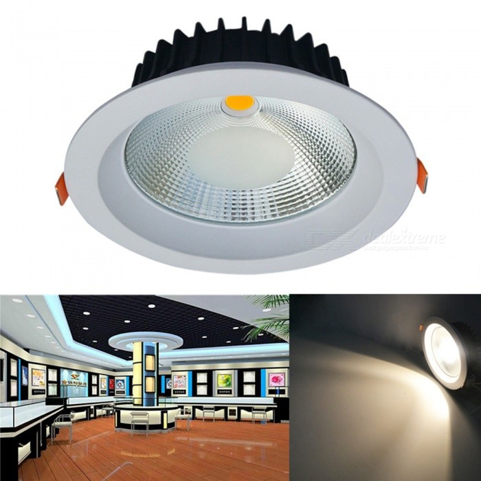 JIAWEN 20W Warm White Dimmable COB LED Ceiling DownlightCeiling Light<br>Form  ColorWhiteColor BINWarm White (Dimmable)Quantity1 DX.PCM.Model.AttributeModel.UnitMaterialAluminumPower20WRated VoltageAC 85-265 DX.PCM.Model.AttributeModel.UnitEmitter TypeCOBTotal Emitters1Theoretical Lumens2000 DX.PCM.Model.AttributeModel.UnitActual Lumens1600 DX.PCM.Model.AttributeModel.UnitDimmableYesBeam Angle45 DX.PCM.Model.AttributeModel.UnitExternal Diameter19.5 DX.PCM.Model.AttributeModel.UnitHole diameter16.5 DX.PCM.Model.AttributeModel.UnitHeight7 DX.PCM.Model.AttributeModel.UnitPacking List1 x LED Ceiling Light1 x External drives<br>