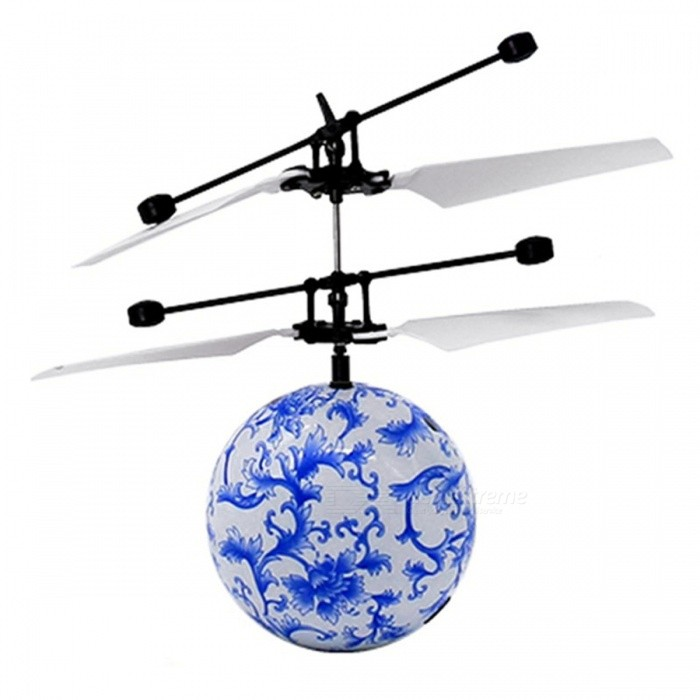 Fashion Infrared Sensor Unmanned Aerial Vehicle UAV Toy - White + Blue