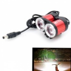 ZHISHUNJIA XML T6 2-LED 1600lm 4-Mode White Bike Light - Red (DC)