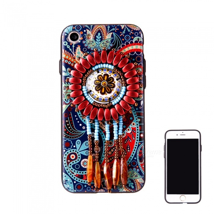 Kinesiska National Style Tillbaka till iPhone 7 - Multicolor (Pattern 7)