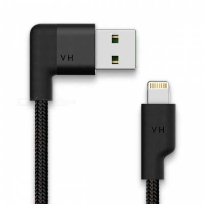 VH Lightning to USB MFi Cable - Jet Black (4ft)