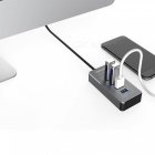 TUTUO HUB-021 5Gbps Speed 4 Ports USB 3.0 Hub Splitter - Gray