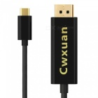 Cwxuan USB 3.1 Type-C to DisplayPort DP 4K HDTV Adapter Cable (1.8m)