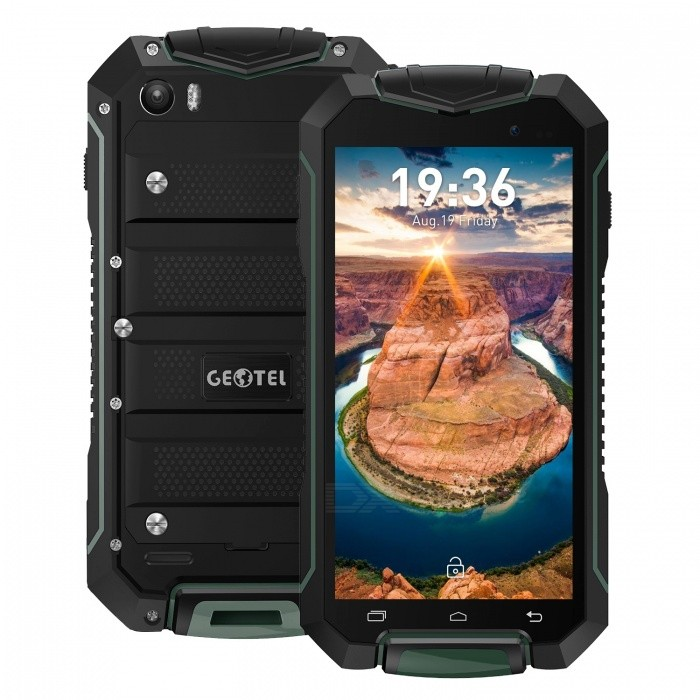 GEOTEL A1 Android 7.0 Quad-Core Smartphone w/ 1GB RAM 8GB ROM - GreenAndroid Phones<br>Form  ColorGreenRAM1GBROM8GBBrandOthers,GEOTELModelA1Quantity1 pieceMaterialPVCShade Of ColorGreenTypeBrand NewPower AdapterEU PlugHousing Case MaterialPVCNetwork Type2G,3GBand DetailsGSM 850/900/1800/1900; WCDMA 900/2100Data TransferGPRS,HSDPA,EDGEWLAN Wi-Fi 802.11 b,g,nSIM Card TypeStandard SIM,Micro SIMSIM Card Quantity2Network StandbyDual Network StandbyBluetooth VersionBluetooth V4.0Operating SystemAndroid 7.xCPU ProcessorMTK6580M 1.3GHzCPU Core QuantityQuad-CoreGPUMali-T720LanguageEnglish, Bahasa Indonesia, Bahasa Melayu, Cestina, Dansk, Deutsch, Espanol, Filipino, French, Hrvatski, latviesu,lietuviu,Italiano, Magyar, Nederlands, Norsk, Polish, Portuguese, Romana, Slovencina, Suomi, Svenska, Tieng viet, Turkish, Greek, Bulgarian, Russian, Ukrainian, Hebrew, Arabic, Thai, Khmer, Korean, Simplified/Traditional ChineseAvailable Memory4GBMemory CardMicro SDMax. Expansion Supported32GBSize Range4.5~4.9 inchesTouch Screen TypeCapacitive ScreenScreen Resolution960*540Screen Size ( inches)4.5Camera Pixel8.0MPFront Camera Pixels2 MPFlashYesTalk Time8 hoursStandby Time100 hoursBattery Capacity3400 mAhfeaturesWi-Fi,GPS,FM,BluetoothSensorProximity,Others,MotionWaterproof LevelOthers,IP67Dust-proof LevelYesShock-proofYesI/O InterfaceMicro USB,3.5mmFormat SupportedWAV, AMR, MP3, MID, 3GP, RM, MPEG-4, AVIRadio TunerFMReference Websites== Will this mobile phone work with a certain mobile carrier of yours? ==Packing List1 x Cell phone1 x Data cable1 x EU plug power adapter1 x User manual1 x Warranty manual<br>