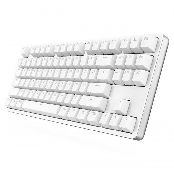 XIAOMI Yuemi Mechanical Keyboard - WhiteUSB Keyboards<br>Form Color WhiteModelMK01Quantity1 setMaterialMetal + PC + ABSWireless or WiredWiredBack-litYesPowered ByUSBBattery included or notNoTypeErgonomicPacking List1 x Keyboard1 x USB cable<br>