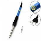220V 60W Handheld Electrical Soldering Iron - Black + Blue