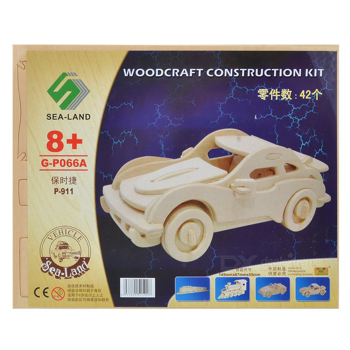Woodcraft Construction Kit - Car