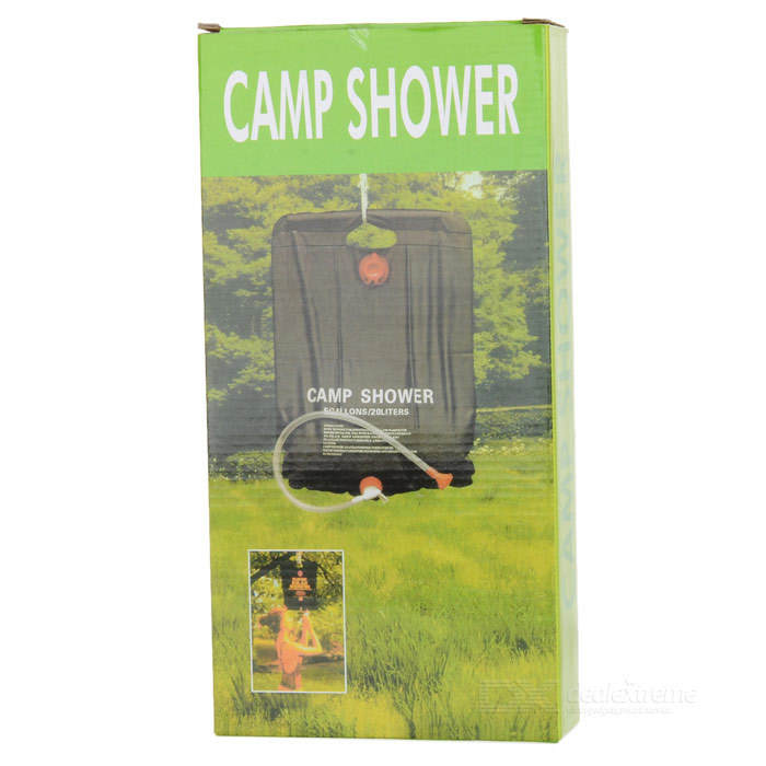 solar outdoor camping shower bag 20 liters 5 gallons free shipping dealextreme. Black Bedroom Furniture Sets. Home Design Ideas