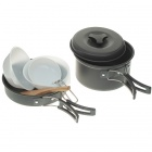 6-in-1 Mini-Outdoor Kochen Picknick-Tools-Set - schwarz