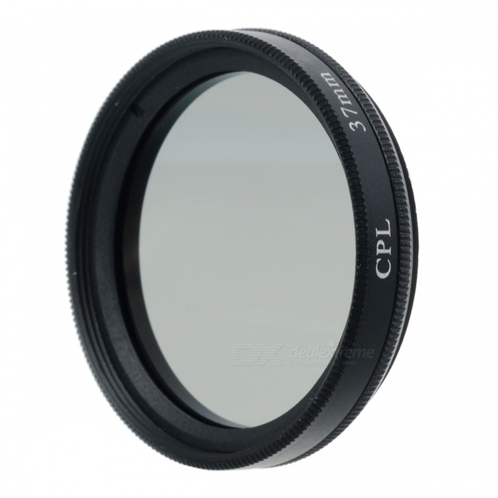 Aluminum Alloy 37mm CPL Polarizing Lens Filter - Black